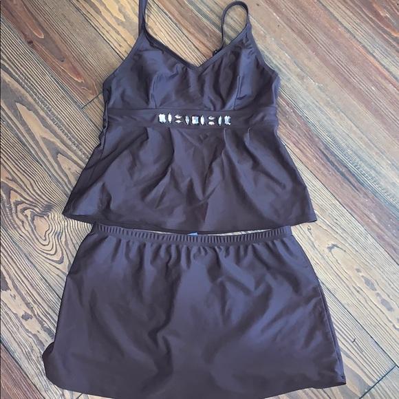 St. John's Bay Other - St. John's Bay brown tankini swimsuit size 10